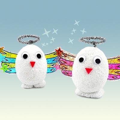클레이 달걀공예 천사 5인set(달걀모형10개)