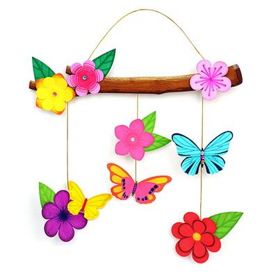 나뭇가지 꽃과 나비 벽걸이