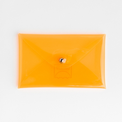 업사이클 PVC 카드 케이스 - 오렌지