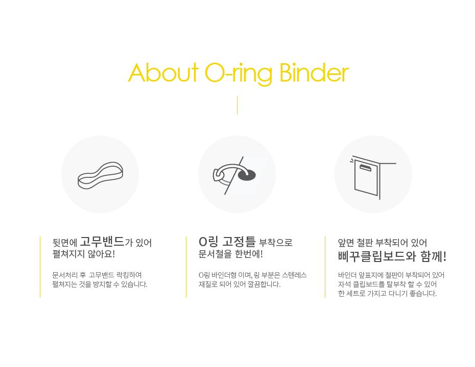 삐꾸 O링 바인더 - 삐꾸의 이상한 서커스단, 6,500원, 바인더, O링바인더