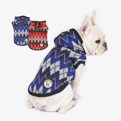 아가일후드니트 강아지옷 애견 반려견 봄옷