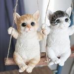 그네 타는 스윙 고양이 (대) 카페 인테리어 소품 벽장식