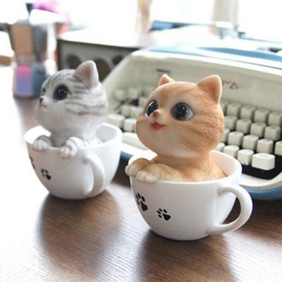 컵속의 고양이 카페 인테리어 소품