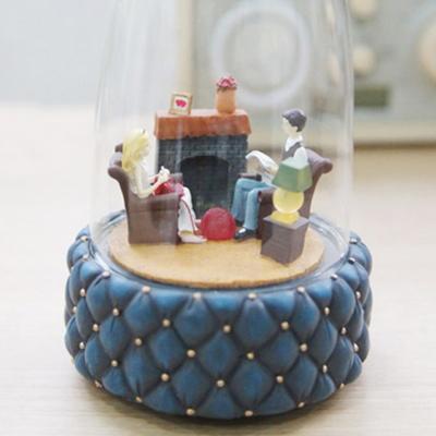 사랑스러운 커플 유리돔 오르골 생일선물 인테리어 소품