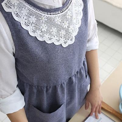 로맨틱 레이스 원피스 앞치마 DS-305 어린이집 교사 주방