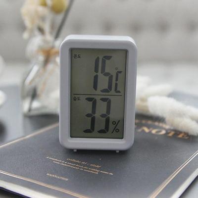 DS-409오리엔트 디지털 온도계 습도계 그레이