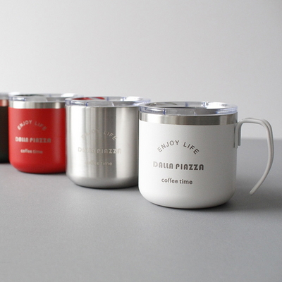 DS-달라피아자 스텐 보온 보냉 뚜껑 머그컵 텀블러 6color