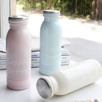 DS-러블리 보온 보냉 병 스텐 보틀 450ml- 3color