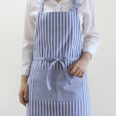 DS-스트라이프 양면 원피스 앞치마  2color 카페 바리스타 남녀공용