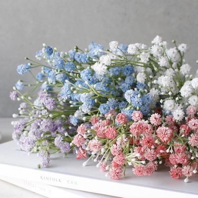 DS-봄빛 안개꽃 다발 4color 조화 장식