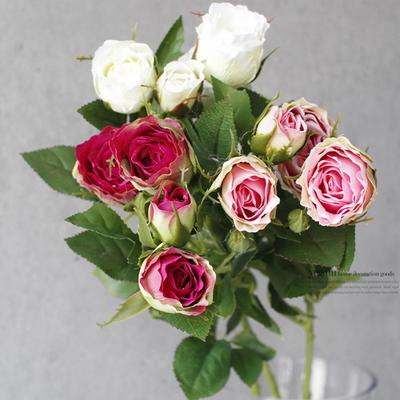 DS-4송이 장미 꽃 다발 3color 조화 장식