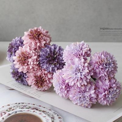 DS-큐티 데이지 꽃 다발 부쉬 7color 조화 장식