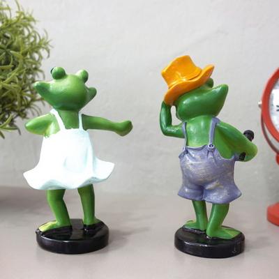 DS-864노래하고 춤추는 개구리 인형 2P세트 인테리어 카페 장식 소품