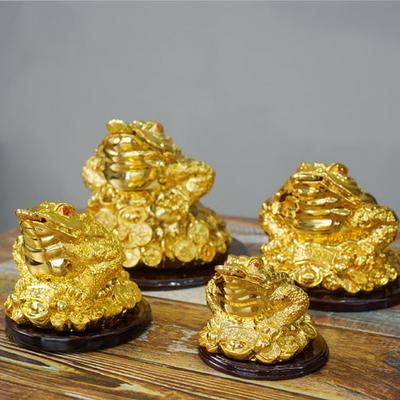 DS-871풍수 재물 황금 삼족 두꺼비 장식품 4size 카페 소품 개업선물