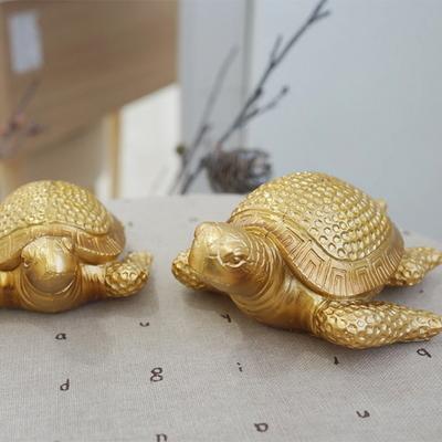 DS-881풍수 재물 황금 바다 거북이 장식품 2P세트 개업선물