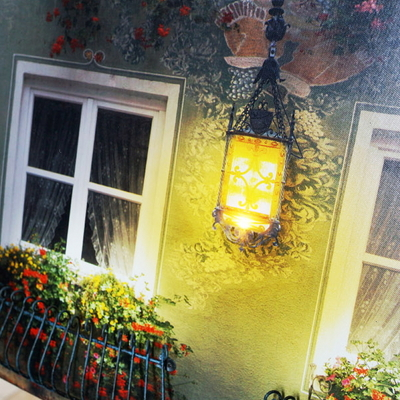 DS-S118 LED 조명 창문 철제 장식 벽걸이 액자 카페 소품 개업 선물
