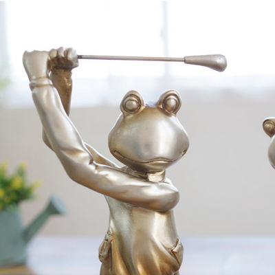 DS-S182 골프 개구리 인형 4P세트(대) 골프장 카페 장식 소품 개업선물