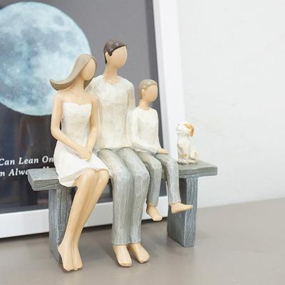 DS-S206다정한 가족 인형 장식품 카페 소품 집들이 개업 선물