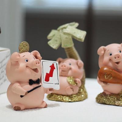 DS-S219골드 코인 돼지 장식품 3P 카페 소품 집들이 개업 선물