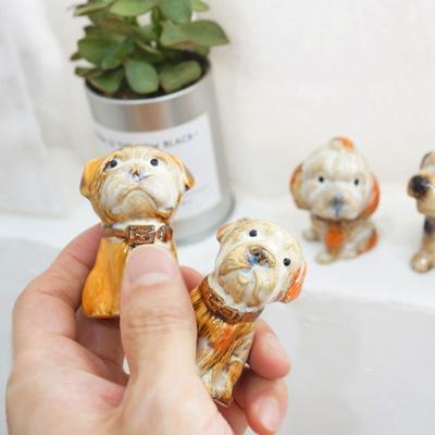 DS-S321도기 강아지 미니어처 12종 인테리어 카페 장식 소품 개업 선물