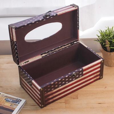 DS-S102국기 사각 티슈 케이스 화장지 커버 박스 개업 집들이 선물