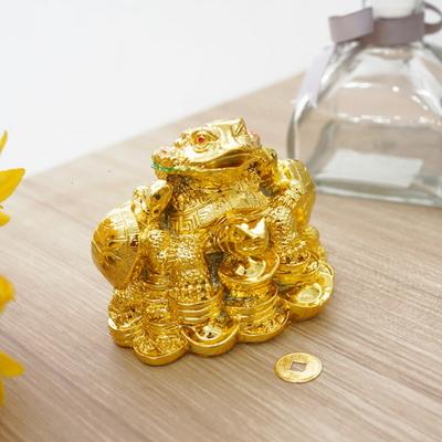 DS-S154황금 풍수 거북과 삼족 두꺼비 장식품 (소) 카페 소품 개업선물