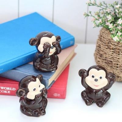 DS-S159미니 원숭이 장식품 3P 카페 소품 개업 집들이 선물