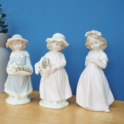 DS-S145플라워 소녀 장식품 3type 개업 집들이 선물 카페 소품