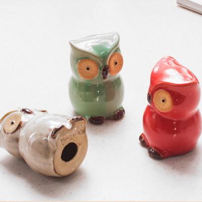 DS-S161미니 칼라 풍수 부엉이 장식품 3P 개업 집들이 선물 카페 소품