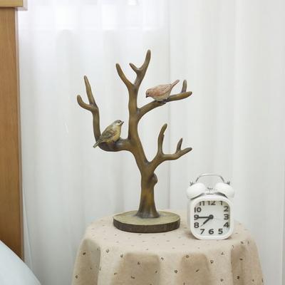 DS-S199빈티지 나무 악세사리 걸이 1P 개업 집들이 선물 카페 소품