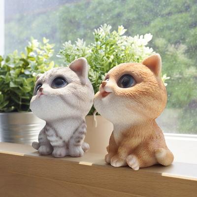 DS-S220미니 고양이 장식품 2P세트 개업 집들이 선물 카페 소품