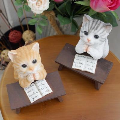 DS-S372책상 고양이 소품 2type 카페 장식품 집들이 개업 선물