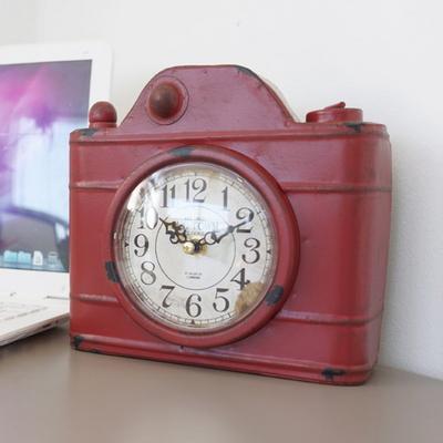 DS-S402빈티지 카메라 탁상시계 3color 카페 소품 집들이 개업 선물