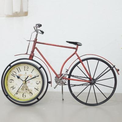 DS-S406빈티지 자전거 탁상시계 2color 카페 소품 집들이 개업 선물