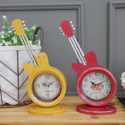 DS-S414빈티지 기타 탁상시계 2color 카페 소품 집들이 개업 선물