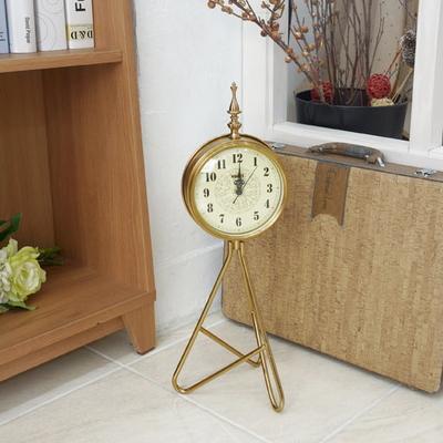 DS-S422엔틱 골드 삼발이 스탠드 시계 (B) 카페 소품 집들이 개업 선물