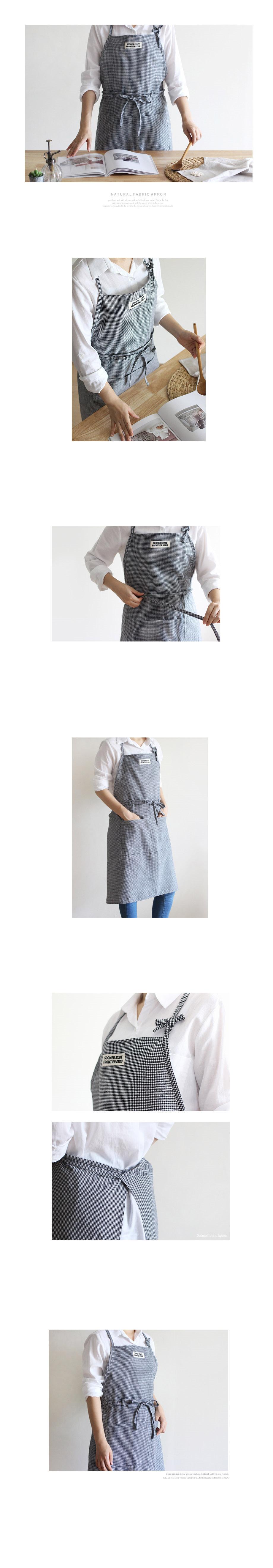 DS-S434미니블랙체크 앞치마 1P 카페 바리스타 남자 여자 공용 - 리빙톡톡, 15,500원, 앞치마, 원피스 앞치마