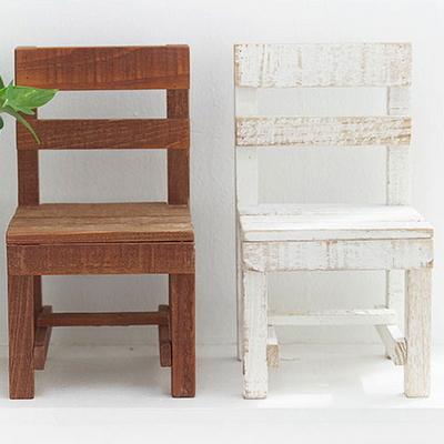 DS-D33빈티지 데코 미니 원목 의자 소품 2color 카페 장식품 개업 선물