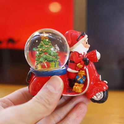 DS-J49바이크 산타 미니 워터볼 크리스마스 선물 장식 카페 소품