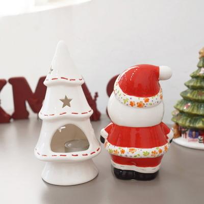 DS-S308산타 트리 촛대 캔들 홀더 2종 크리스마스 선물 장식 카페 소품