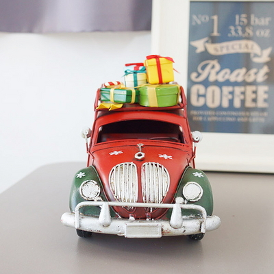 DS-S311크리스마스 선물 자동차 (레드) 성탄절 장식 카페 소품