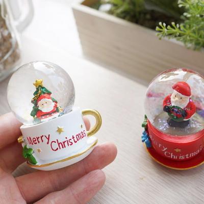 DS-S324산타컵 워터볼 2종 크리스마스 선물 장식 카페 소품