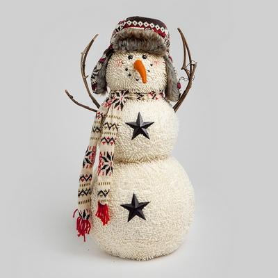 DS-C25군밤모자 눈사람 가족 3종 크리스마스 선물 장식 카페 소품