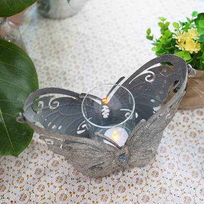 DS-S405빈티지 나비 캔들 홀더 촛대 카페 인테리어 소품 개업 선물