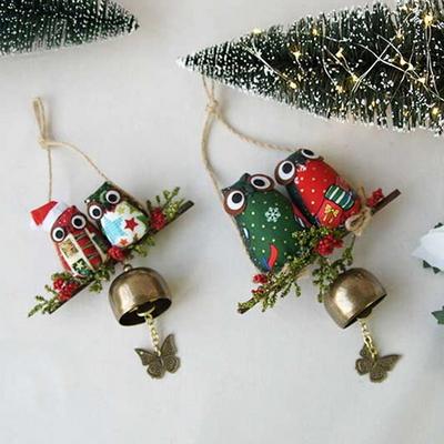 DS-S83 크리스마스 부엉이 도어벨 2size 카페 인테리어 문종 소품 가렌더