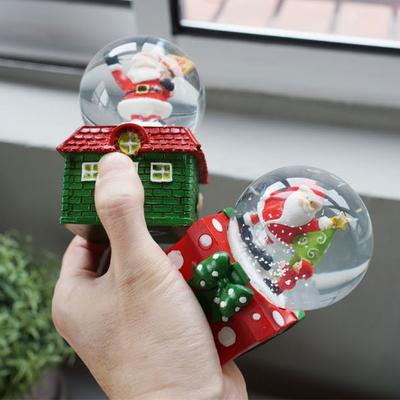 DS-S405 크리스마스 하우스 미니 워터볼 4종세트 선물 장식 카페 소품