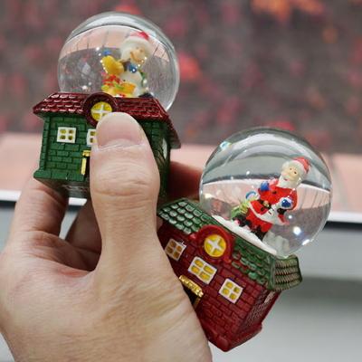 DS-S407 크리스마스 하우스 미니 워터볼 12종세트 선물 장식 카페 소품