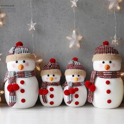 DS-J65뜨개모자 눈사람 인형 2P 2size 크리스마스 선물 장식 카페 소품