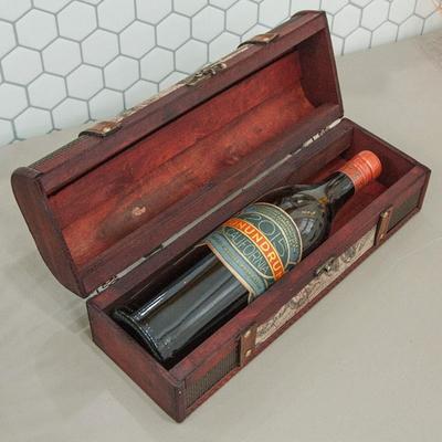 DS-S424빈티지 우드 와인 보관함 1P 카페 장식 소품 개업 집들이 선물