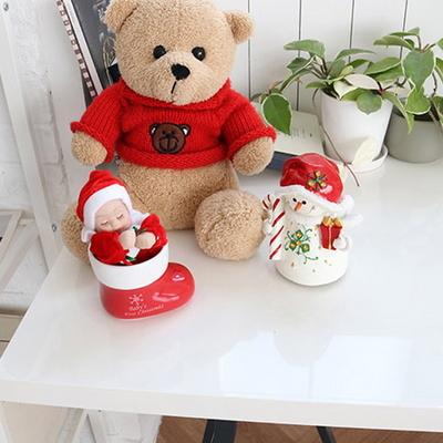 DS-S434아기 눈사람 오르골 2style 크리스마스 선물 장식